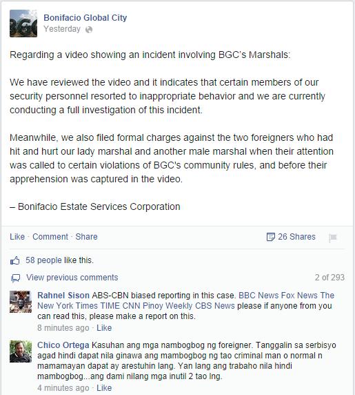 BGC Statement