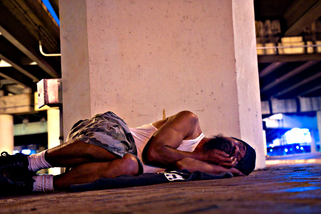 Man Lying Near Me Under Pontchartrain Expressway, New Orleans, LA
