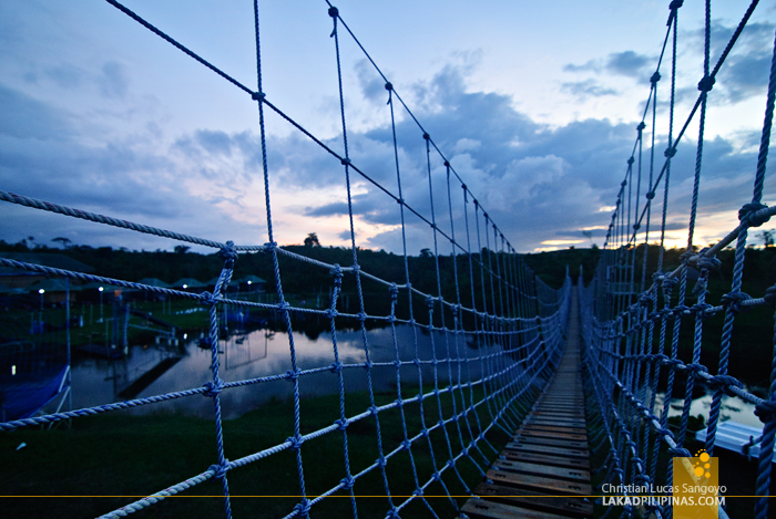 Hanging Bridge at Mountain Lake Resort in Caliraya Springs