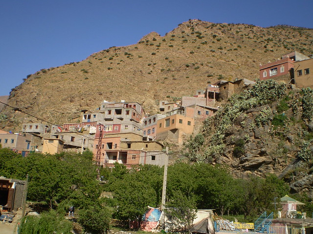 The small village of Setti Fatma, nestled into the foothills of the Atlas Mountains, an easy day trip from Marrakesh