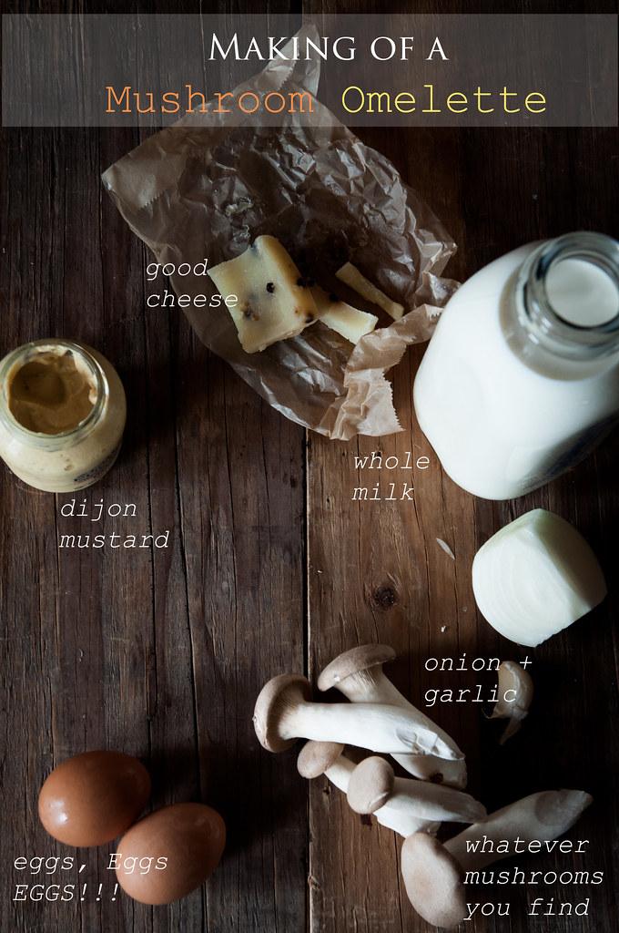 mushroom omelette ingredients