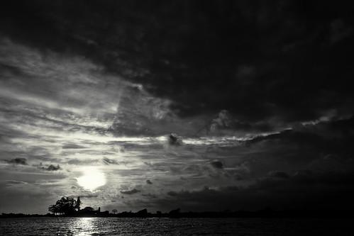 sunset sky méxico river landscape mexico atardecer blackwhite paisaje cielo nubes mexique veracruz curbina74