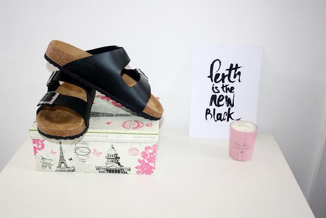 Basic black birkenstock slides by Lipstick Shoes