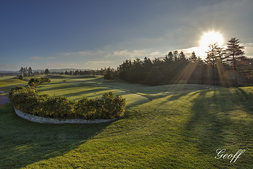 travel 2 3 canada green tourism nature wet colors sunrise newfoundland golf landscape hole 14 stjohns course dew golfing 17 nl 18 clovelly moisture osprey golfscape