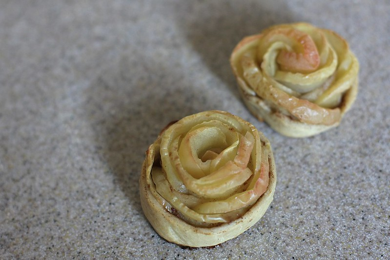 apple roses for the feast of St. Therese