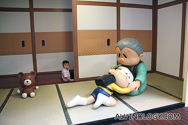 Touching scene whereby Nobita traveled back into the past to meet his grandma when she passed away