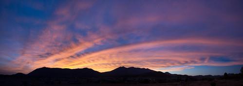 sunset arizona sky panorama weather clouds landscape unitedstates flagstaff sanfranciscopeaks mounthumphreys autoimport