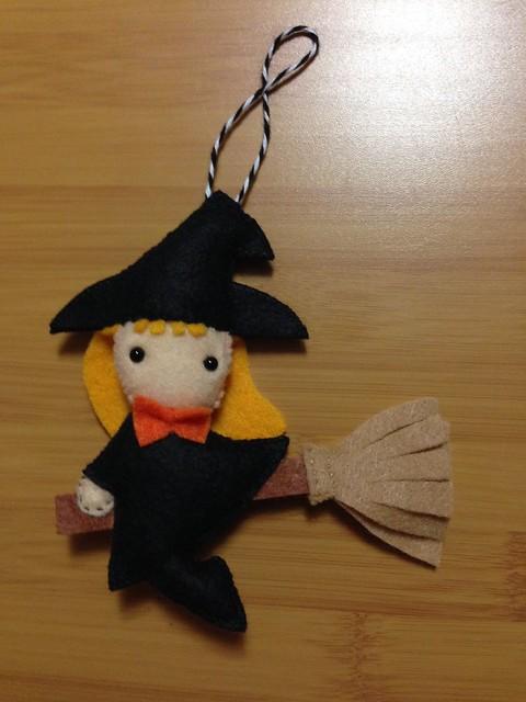 Felt Witch Ornament
