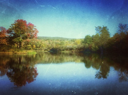 autumn reflection nature landscape amherst waterscape thepond mobileography retrolux owenspond iphoneography snapseed vividhdr