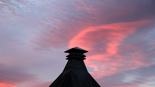 sky clouds sunrise canon eos scotland pagoda distillery moray daybreak morningsky speyside knockando maltings 60d duncantait