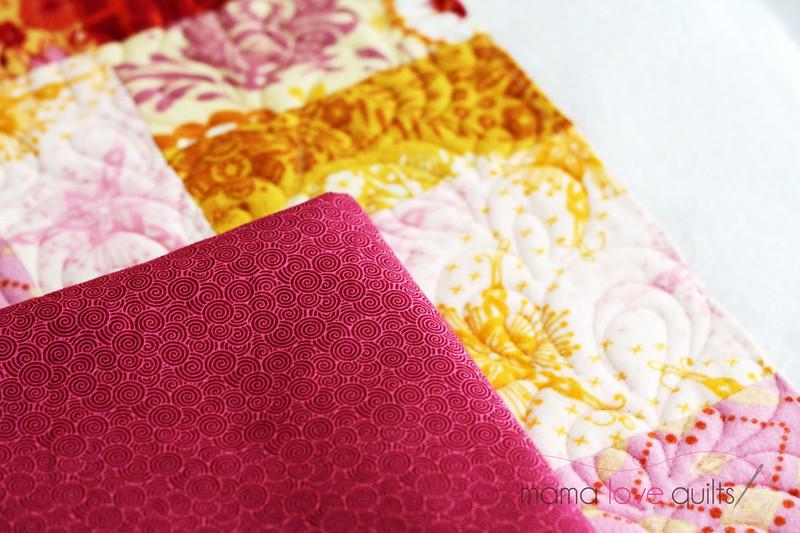 Anna Maria Horner Flannel Quilt_Binding fabric