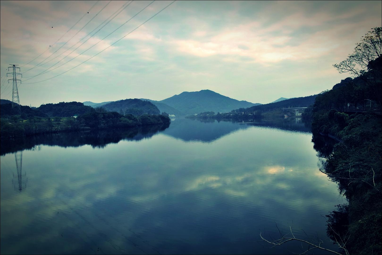 대청 댐 인근-'금강 자전거 캠핑 종주'