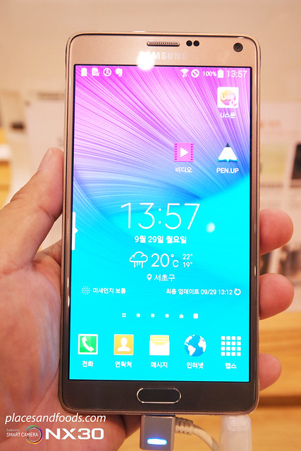 samsung galaxy note 4 front
