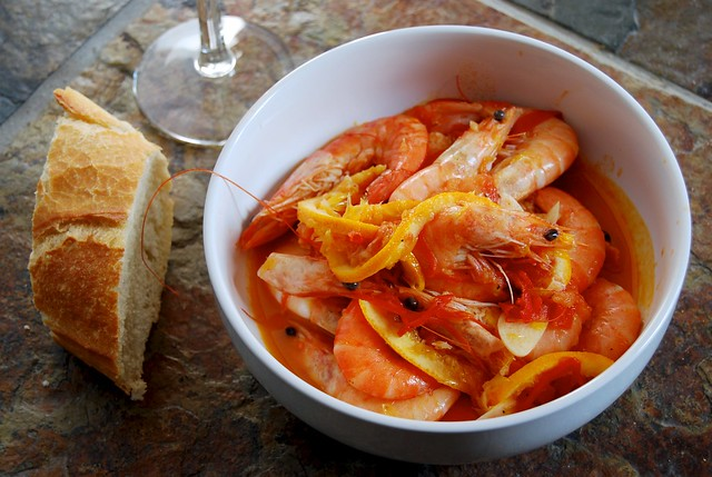 Honey & Co's Prawns in Orange, Tomato & Cardamom