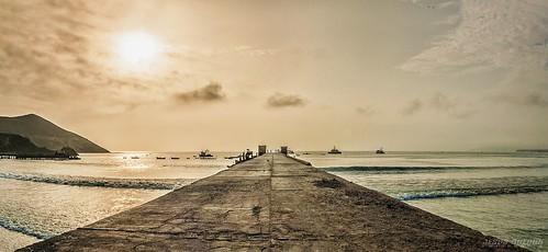 ocean sunset sea sun seascape sol peru port canon landscape puerto atardecer muelle mar lima paisaje marino oceano xti chancay 400d canonistas jesusguerrafotografia