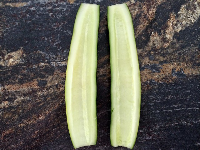Seeded Cucumber Halves
