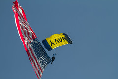 parachute, sports, parachuting, windsports, flag of the united states, flag, extreme sport, flight,