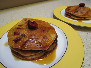Cherry Vanilla Bean Pancakes