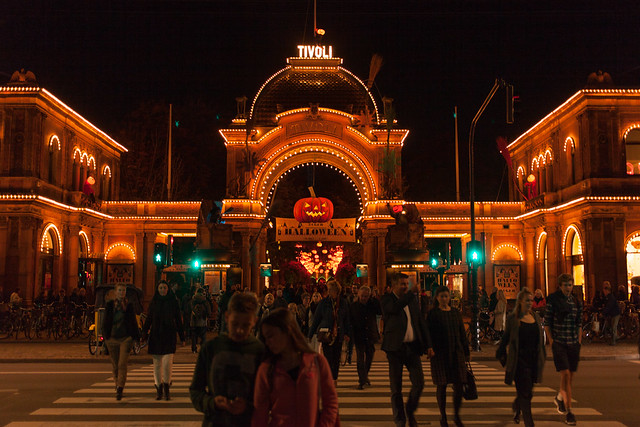 The Tivoli Gardens at night