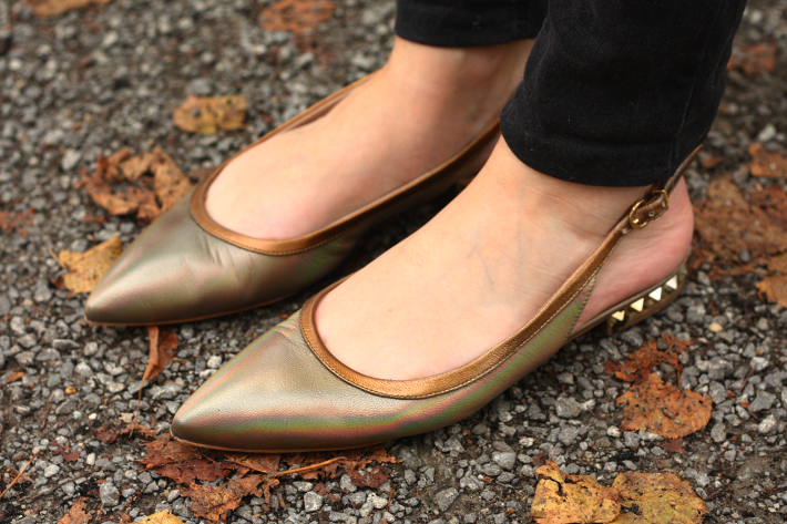 helsar flats bronze kelya shoes