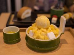 Mango with Ice-cream :D