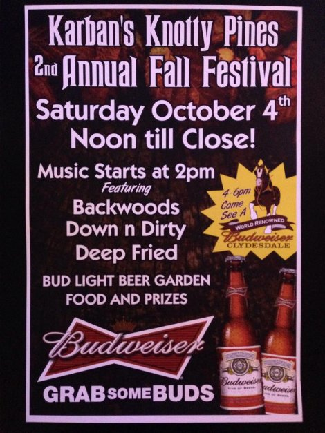 Knotty Pines Fall Festival 10-4-14