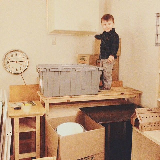 Some of us are really enjoying the packing process. #instaluther #toddler #childhood #moving #packing