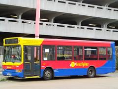 Trustybus (ex Brighton & Hove) Dennis/Plaxton Mini Pointer Dart SHZ2691 (formerly T313SMV) Harlow Bus Station 26/09/14
