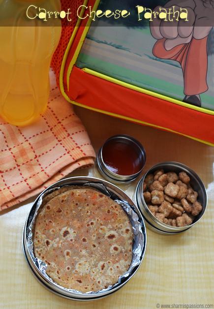 Cheese Carrot Paratha