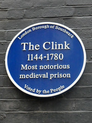 Photo of The Clink blue plaque