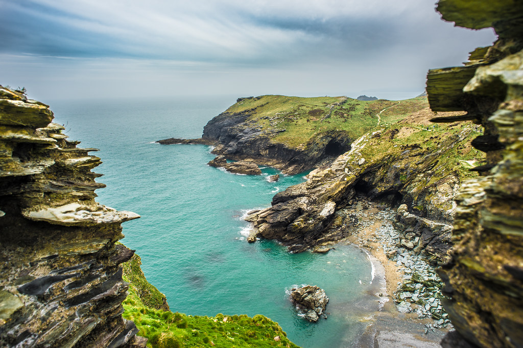 View from the Tintagel castle, Cornwall, United Kingdom picture