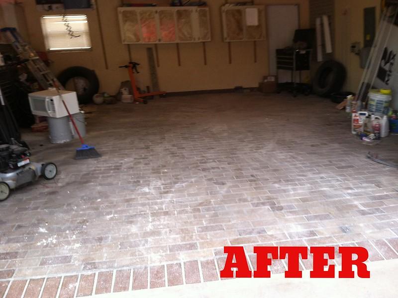 after garage construction debris