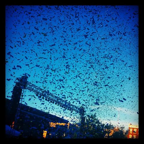 Confetti cannons @OKGo's @MidPointMusic performance @WashingtonPark with @genmae5... #MPMF #MPMF14