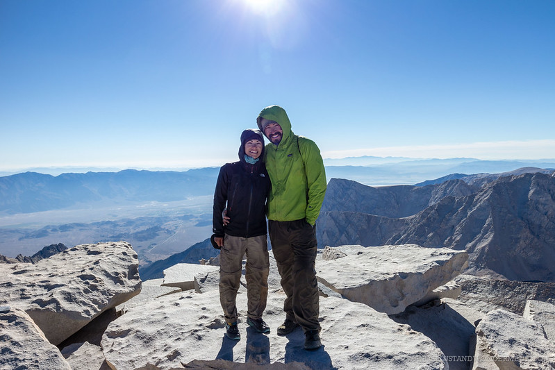 Will and Chelsey on Mt. Whitney