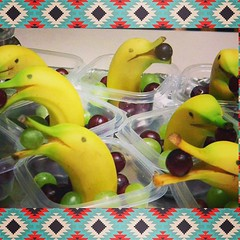 #banana #dolphins love #grapes! #foodart #food