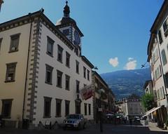 Hôtel de Ville (XVIIe), rue du Grand Pont, Sion, canton du Valais, Suisse.