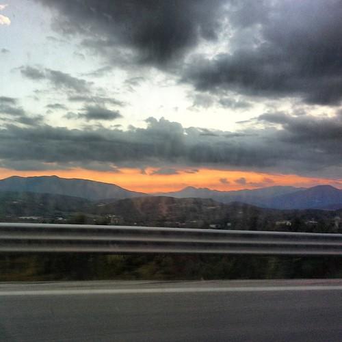 Molise: tramonto sulla via del ritorno