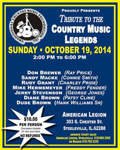 Tribute To Country Music Legends 10-19-14