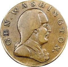 1785 Washington Confederatio Copper obverse