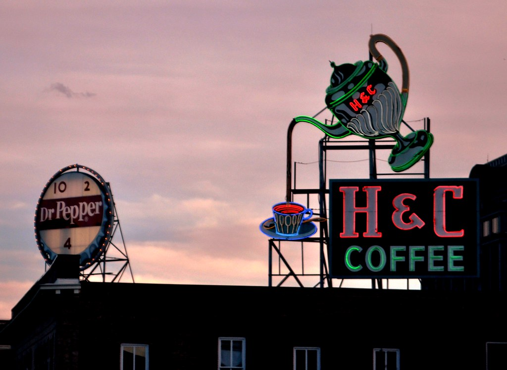 H&C Coffee Sign, Downtown Roanoke, Va.