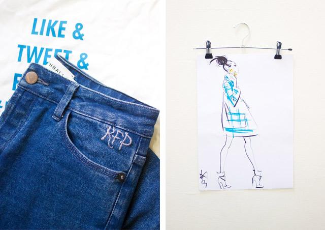 Isko denim personalised jeans