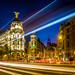 Twillight Traffic in Madrid by Patberg