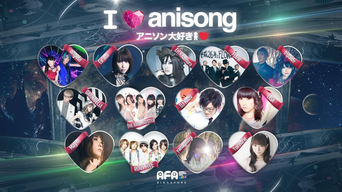 Five More Acts Complete AFA 2014 I Love Anisong Mega Anime Music Festival Line-up