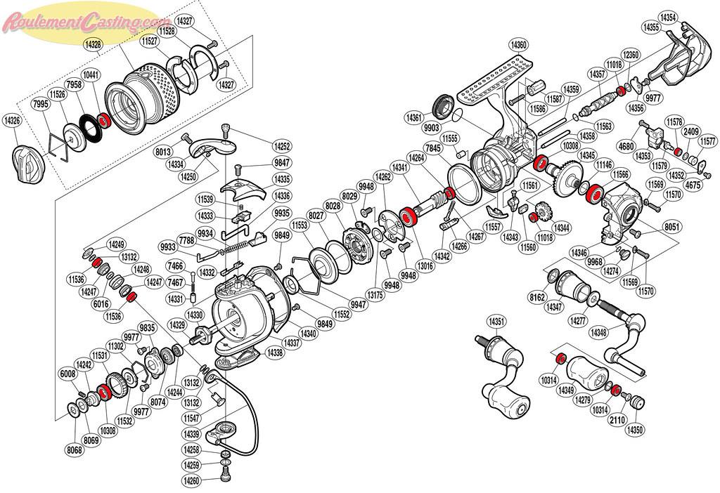 Schéma Shimano 11' Stella 1000FE