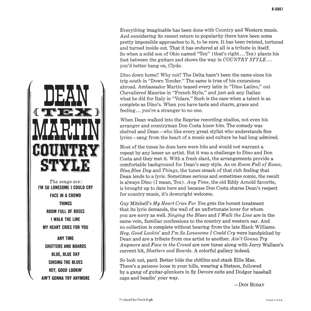 Dean Martin - Country Style