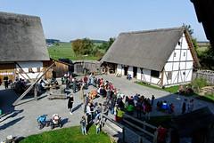 Blick vom Burgfried der Bachritterburg