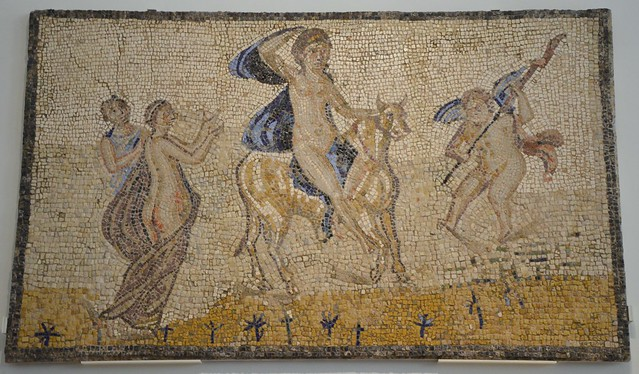 Mosaic depicting the abduction of Europa by Jupiter, 3rd century AD, found in Fernán Núñez (Córdoba), National Archaeological Museum of Spain, Madrid