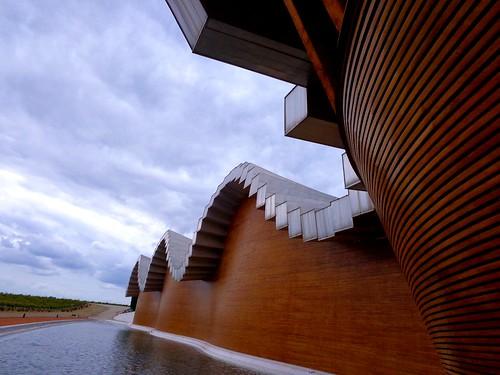 Detalle fachada y cubierta de Ysios