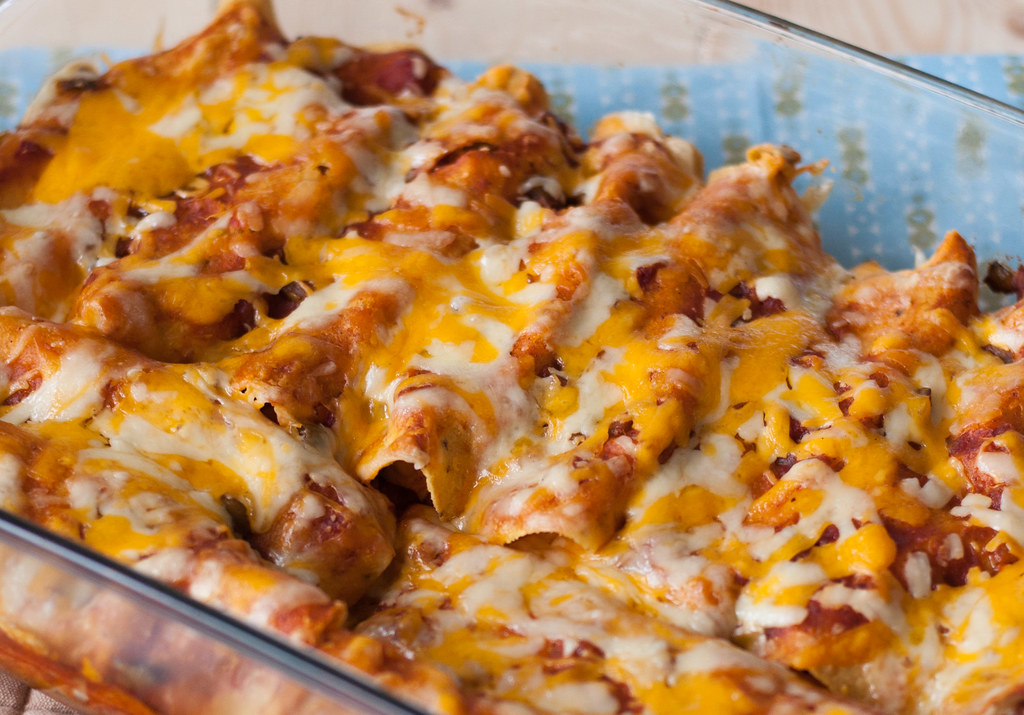 Hot 'n' ready enchiladas