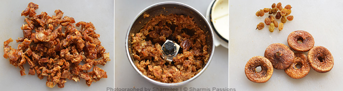 How to make fruit and nut laddu - Step1